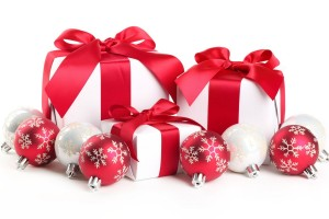 merry christmas wallpapers gifts white