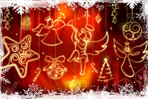 merry christmas wallpapers lights A4