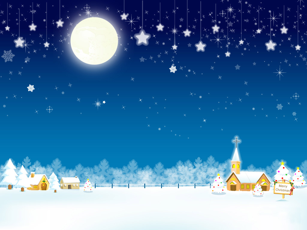 merry christmas wallpapers moon