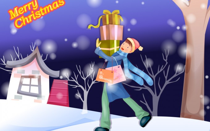 merry christmas wallpapers present