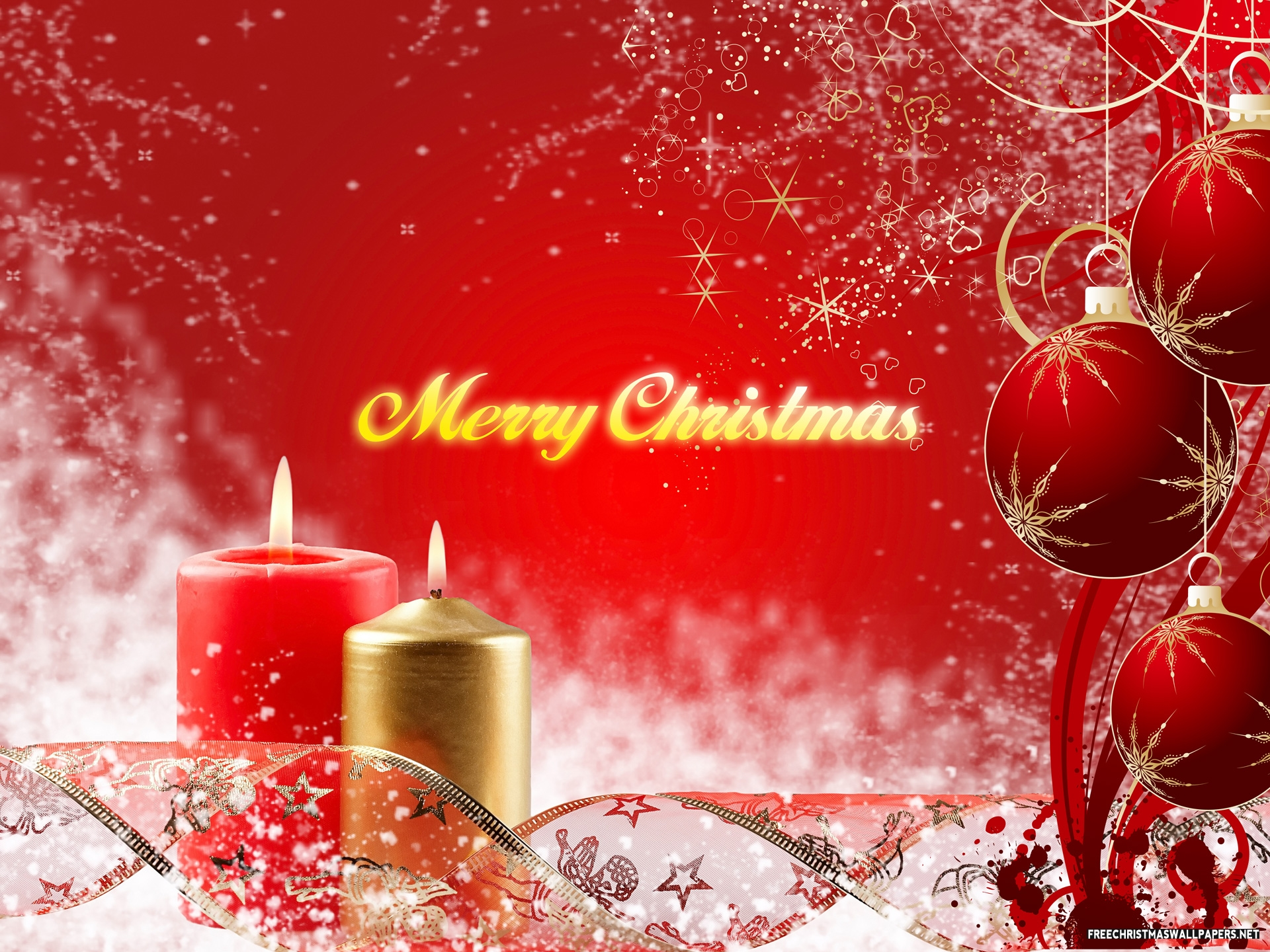 merry christmas wallpapers red