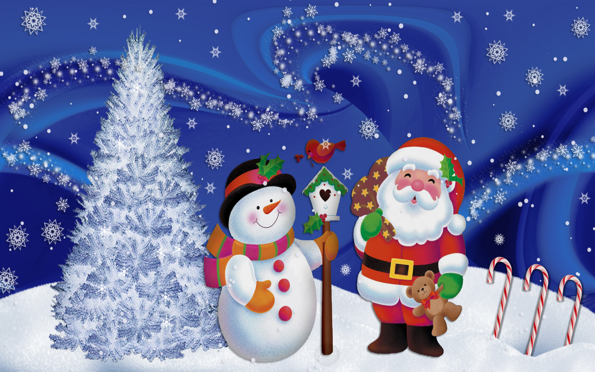 merry christmas wallpapers santa