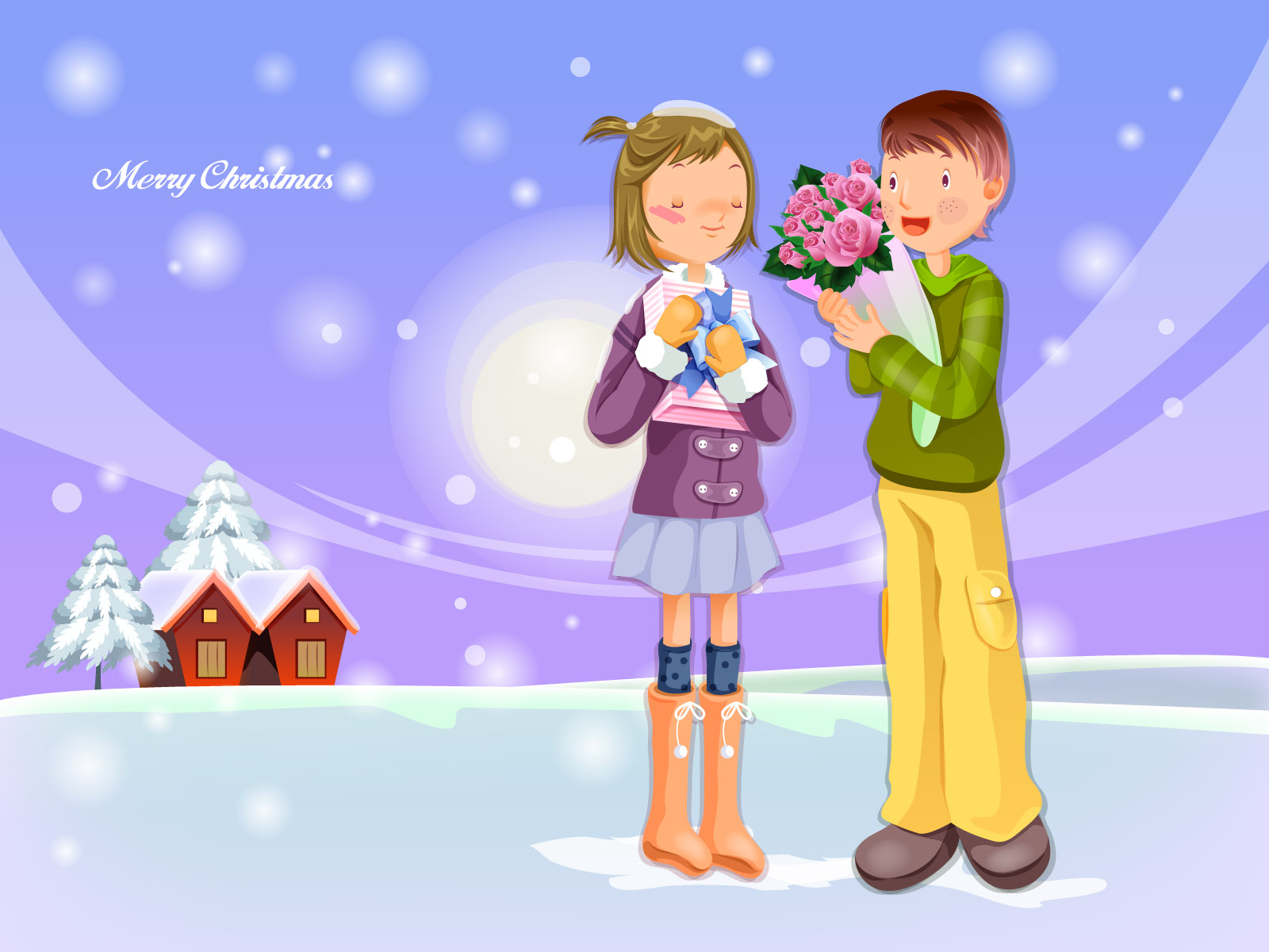 merry christmas wallpapers sweet love