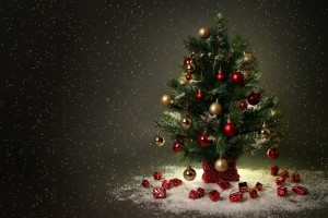 merry christmas wallpapers tree A4