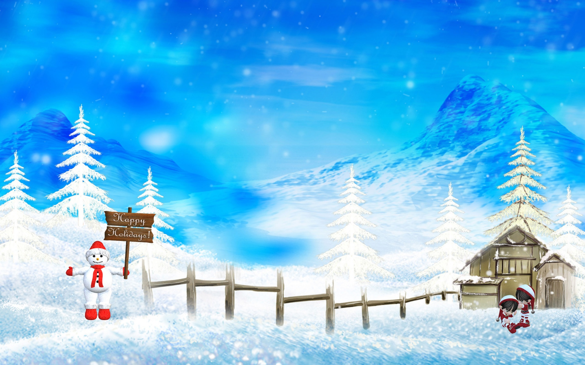 merry christmas wallpapers winter
