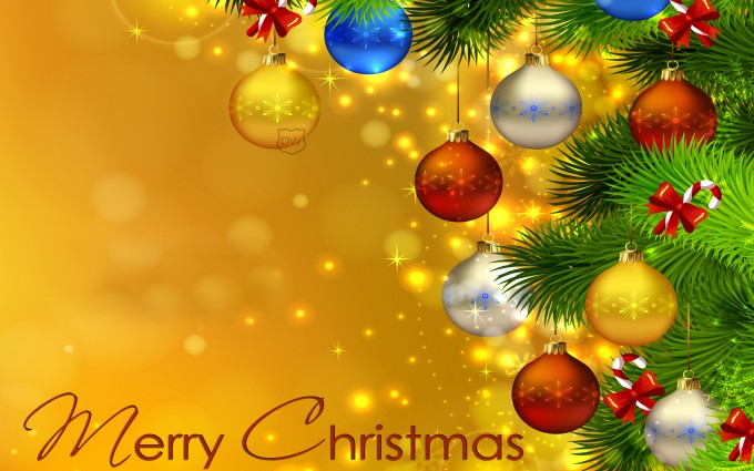 merry christmas wallpapers yellow
