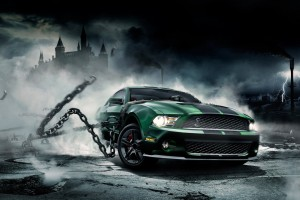 muscle car wallpaper green