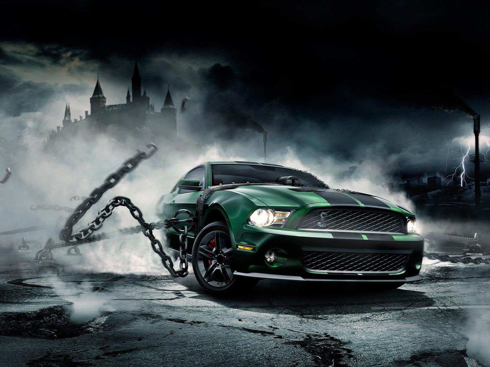 muscle car wallpaper green