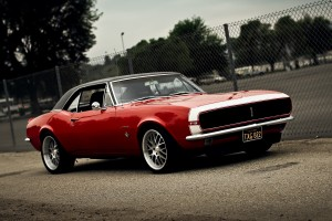 muscle car wallpaper red