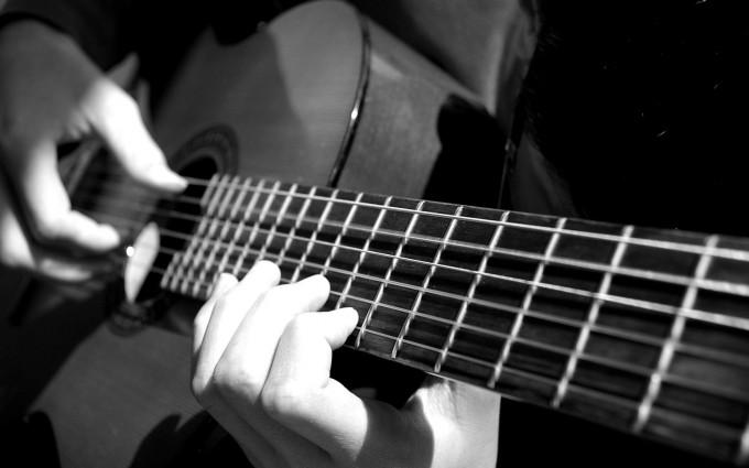 music wallpaper Acoustic guitar
