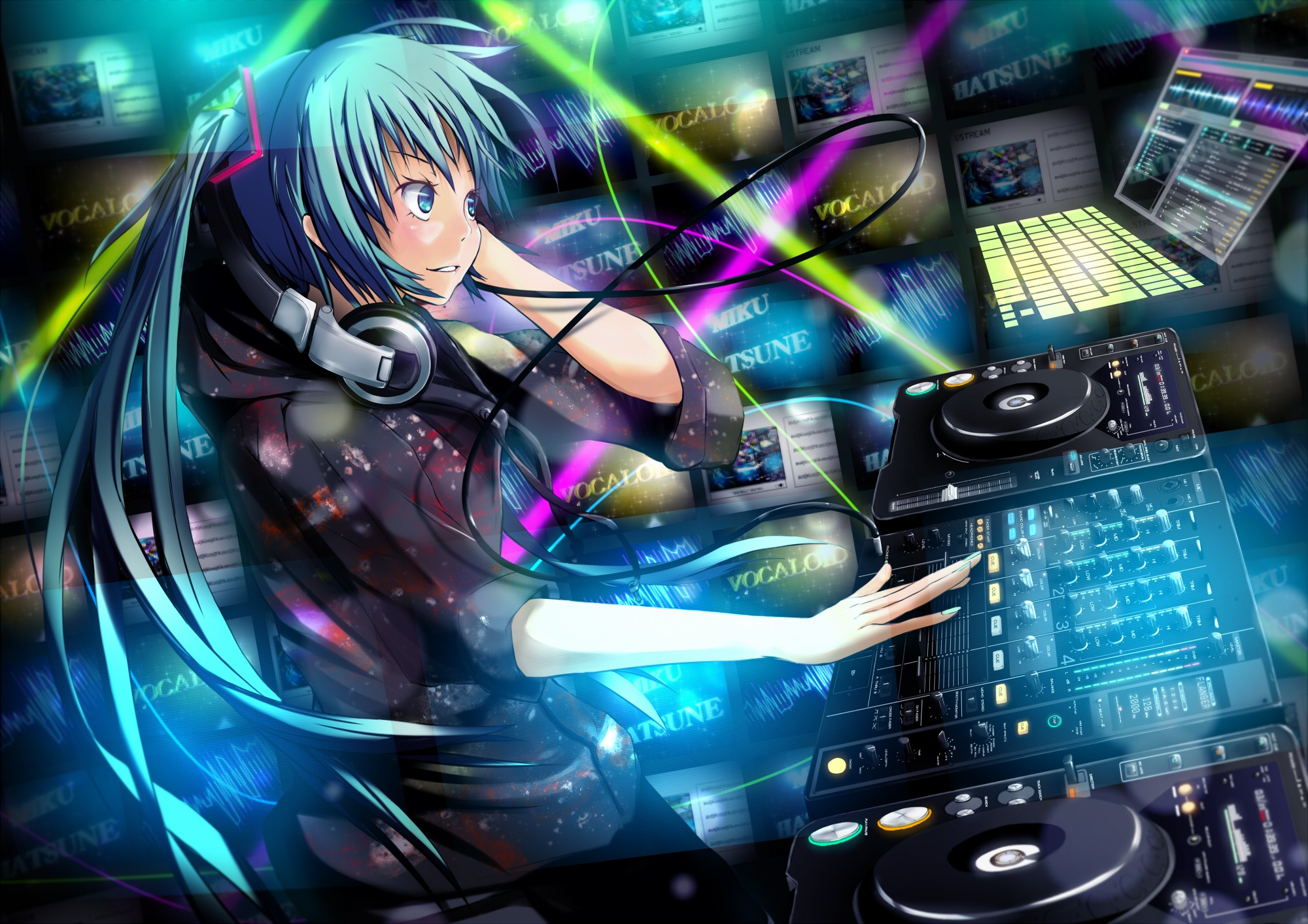 music wallpaper anime