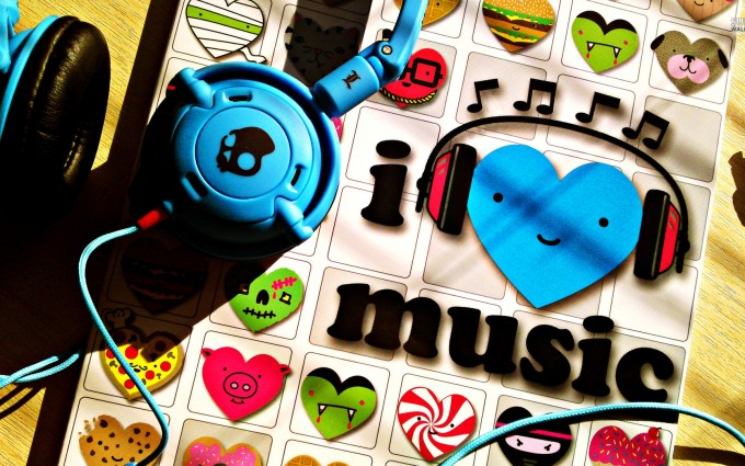 music wallpaper blue