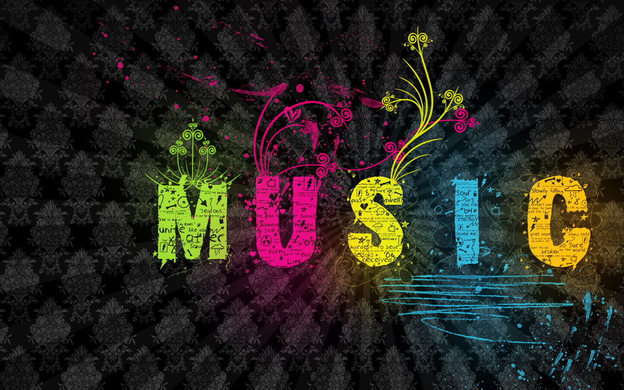 music wallpaper colorful