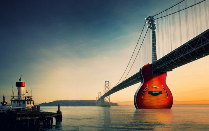 music wallpaper guitar
