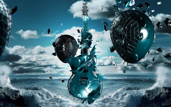 music wallpaper guitar anime