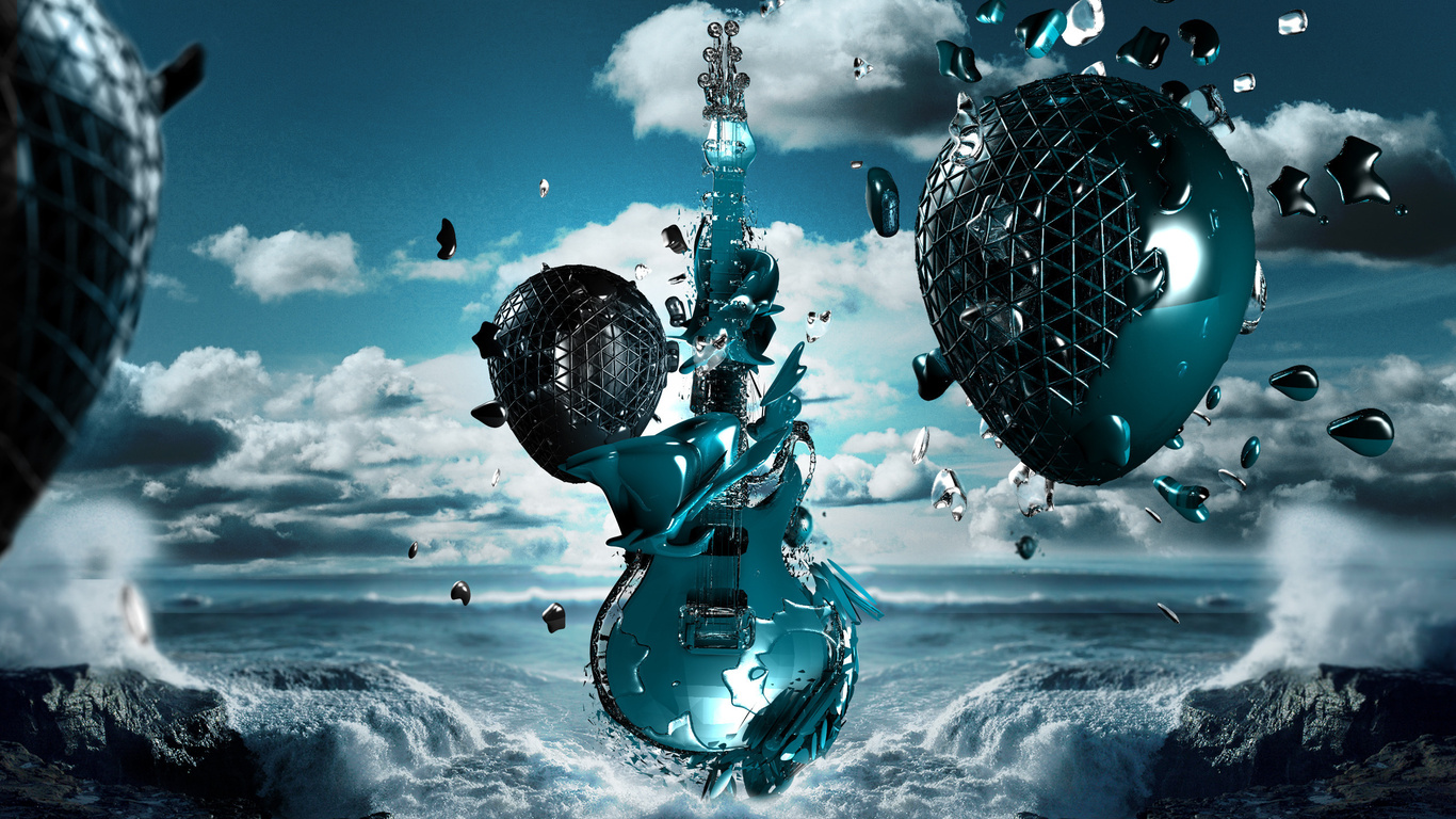 music wallpaper guitar anime