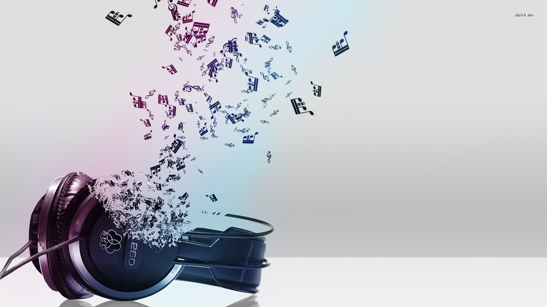 music wallpaper headset