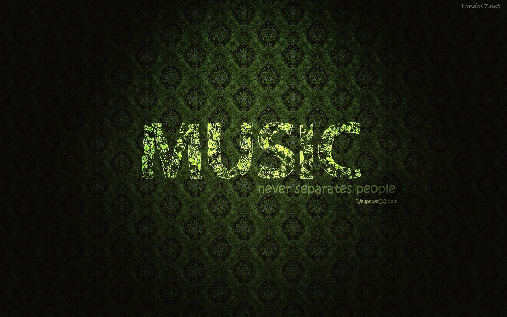 music wallpaper light green