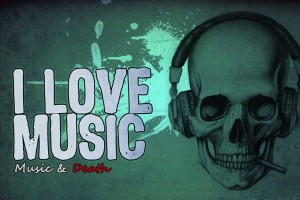 music wallpaper skull