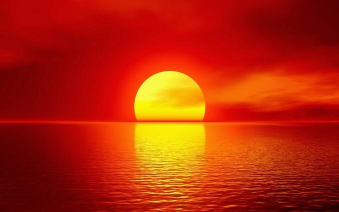 ocean sunset wallpaper