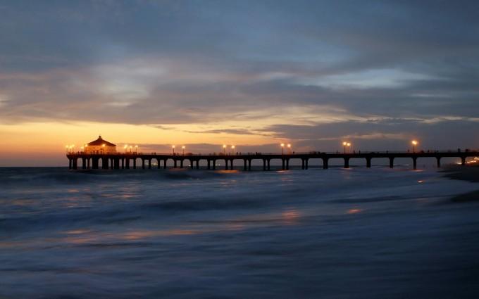 ocean wallpaper bridge