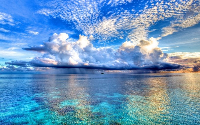 ocean wallpaper clouds