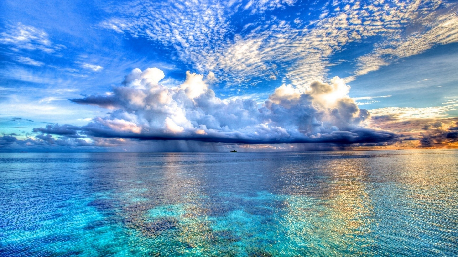 ocean wallpaper clouds
