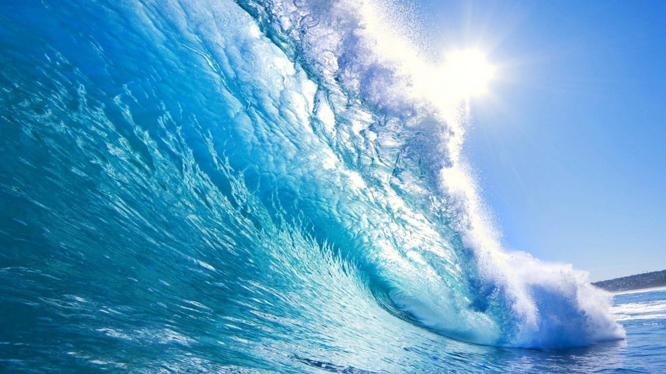 ocean wallpaper crystal waves