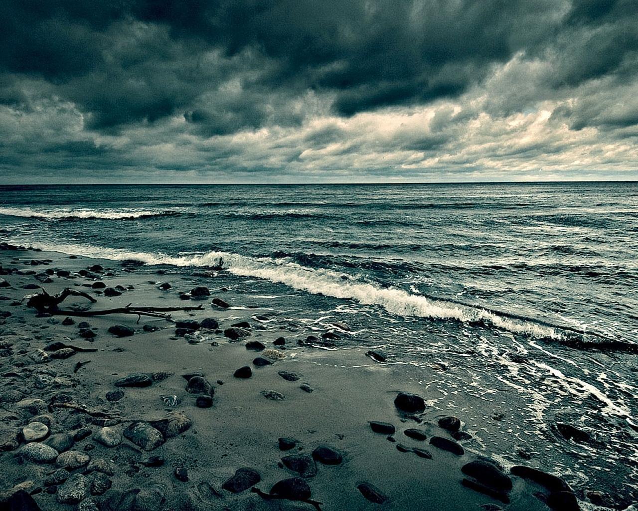 ocean wallpaper evening
