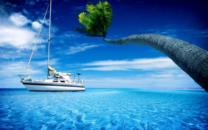 ocean wallpaper sailing