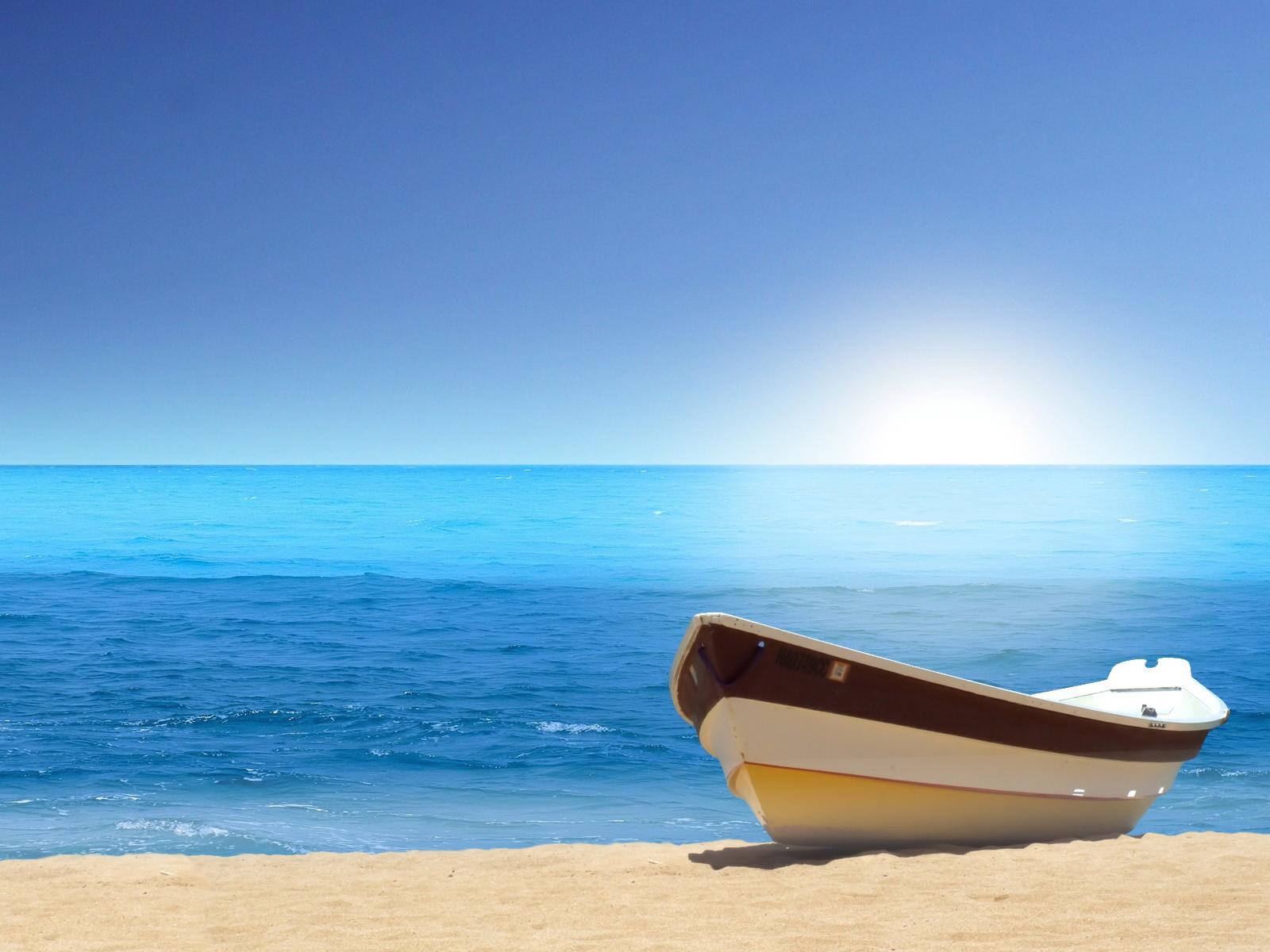 ocean wallpaper small boat