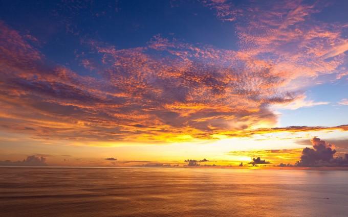 ocean wallpaper sunset pacific