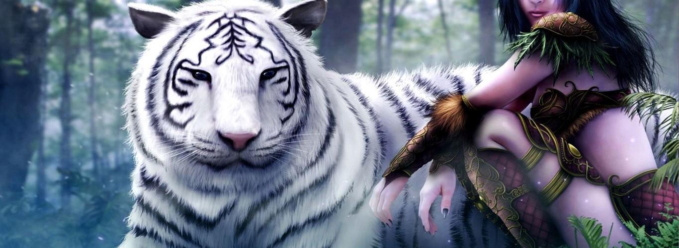 desktop 3d white tiger - photo #6