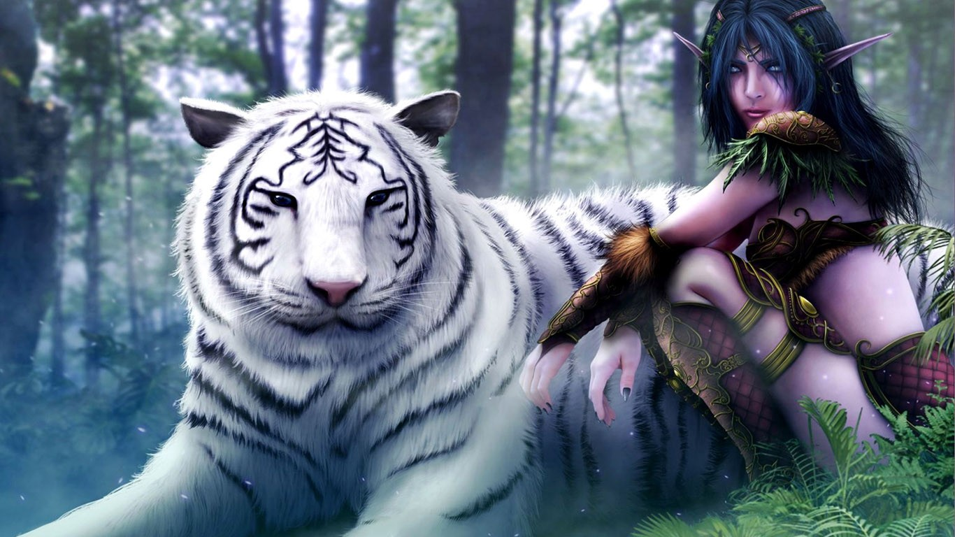 pictures of white tigers 3d