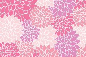 pink floral wallpaper