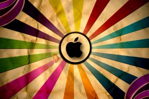 retro wallpaper apple