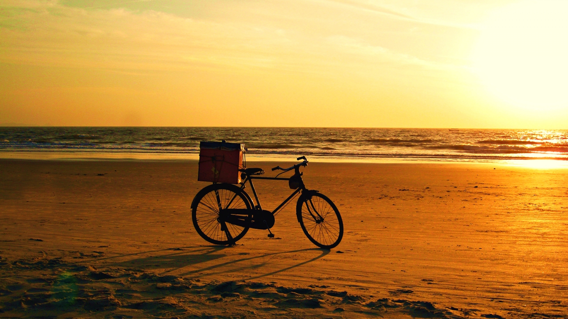 retro wallpaper beach cycle