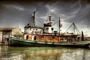 retro wallpaper boat