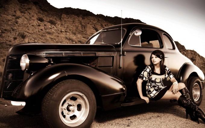 retro wallpaper car
