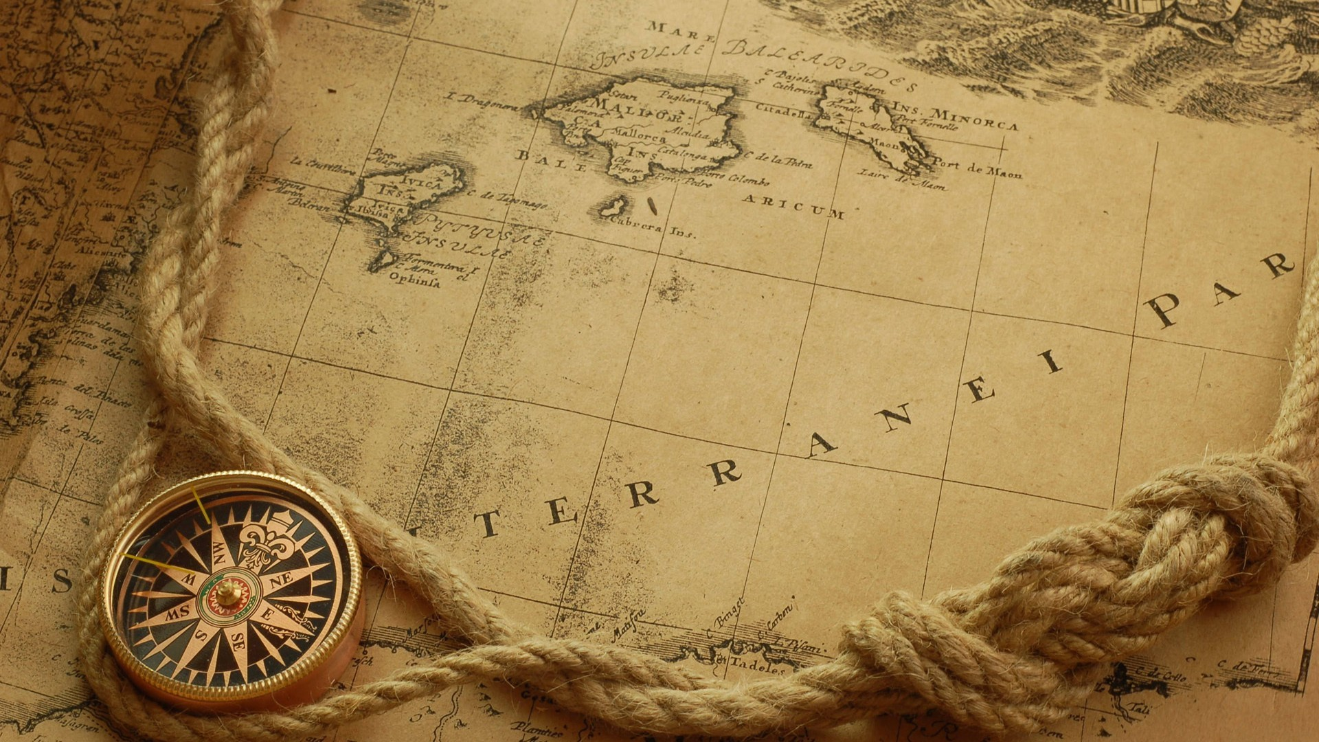 retro wallpaper compass