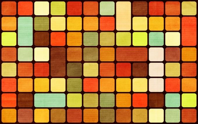 retro wallpaper cube