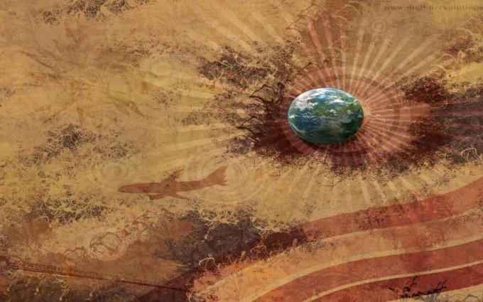 retro wallpaper earth