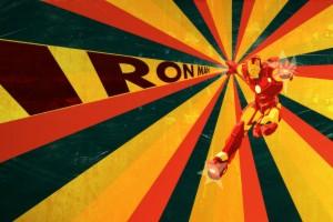 retro wallpaper iron man