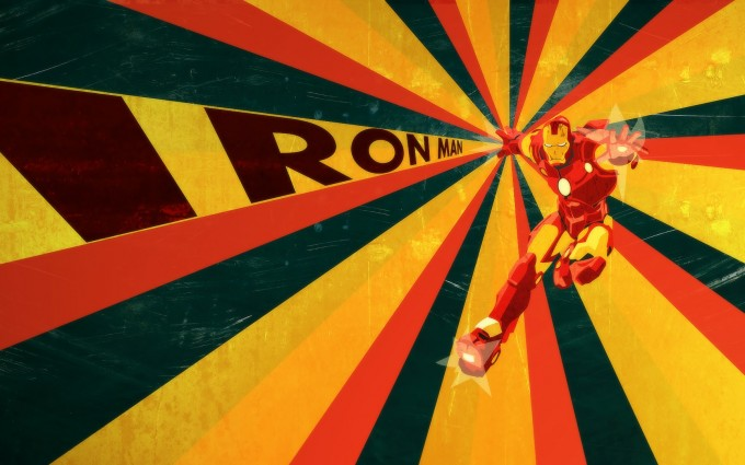 retro wallpaper iron man