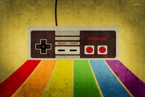 retro wallpaper joy stick
