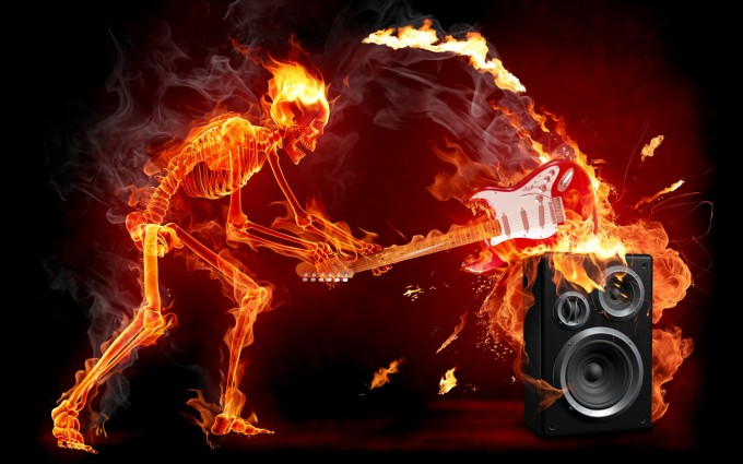 rock wallpapers fire