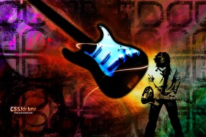 rock wallpapers guitar colorful