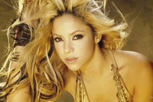 shakira wallpaper golden