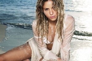 shakira wallpaper wet