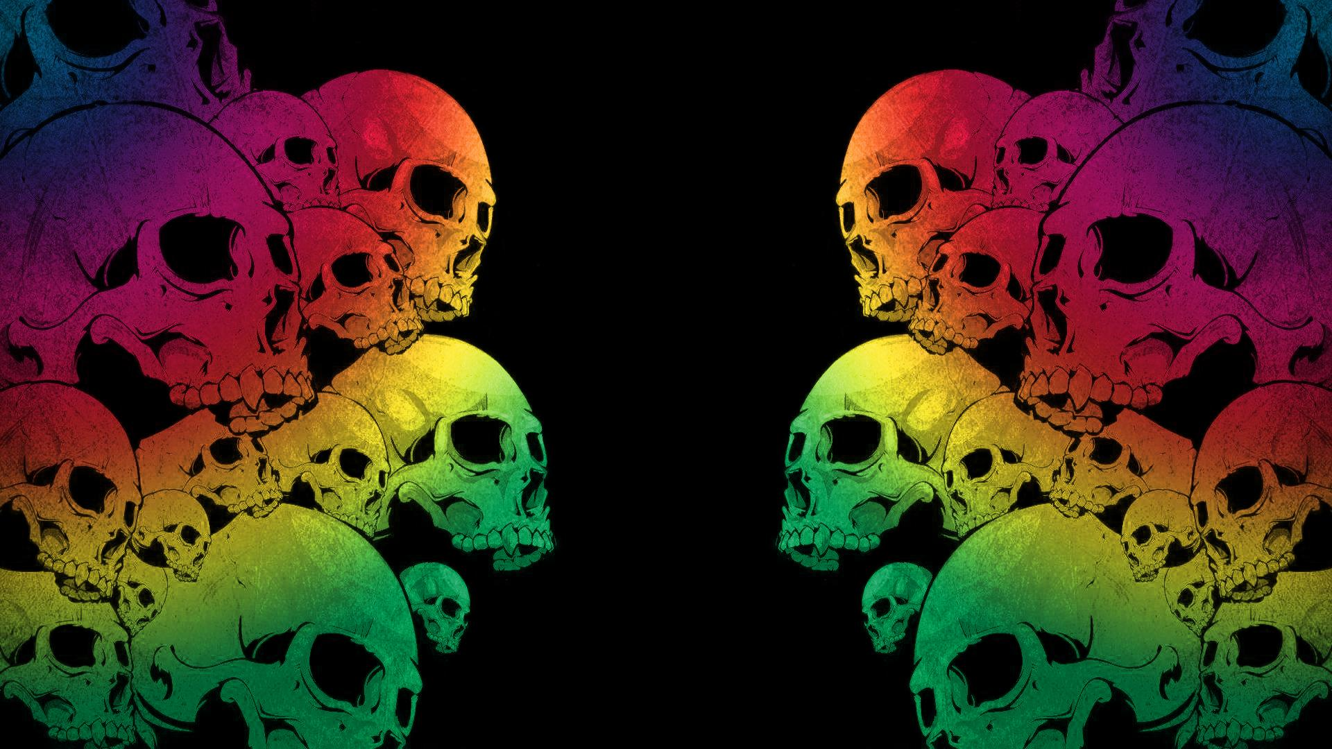 skull wallpapers colors